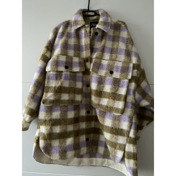 Zara Überhemd Karierte karo Jacke Checked Overshirt