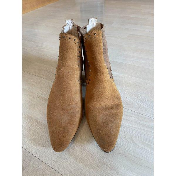 Zara Velourleder Booties Cowboy Stiefel 41