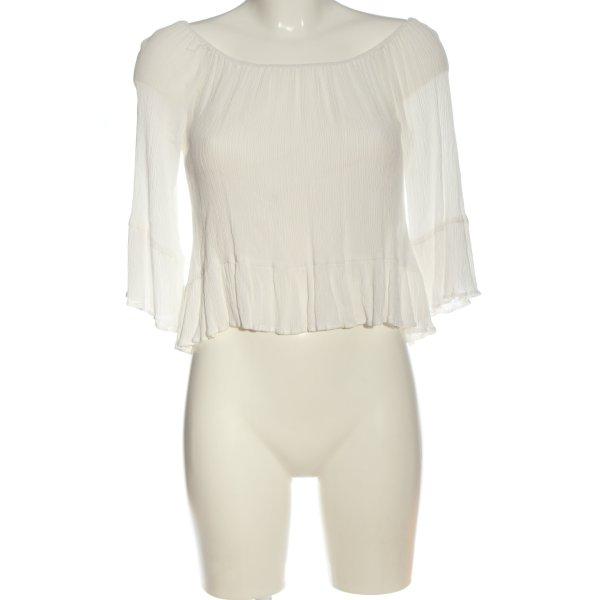 Zara Woman Carmen-Bluse weiß Casual-Look