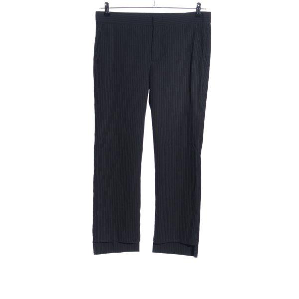 Zara Woman Pantalone chino nero stampa integrale stile professionale