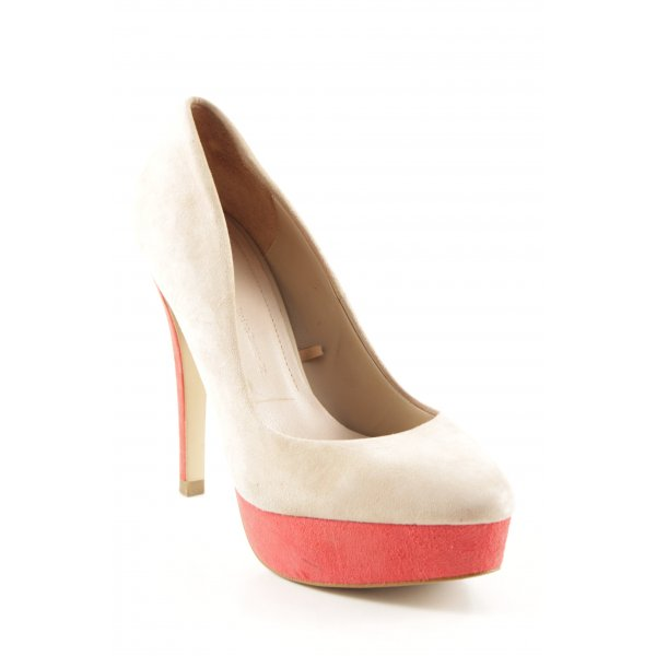 Zara Woman High Heels creme-rot Party-Look