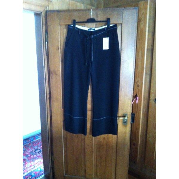 ZARA WOMAN Hose Grösse XL schwarz mit weissen Kontrastnähten