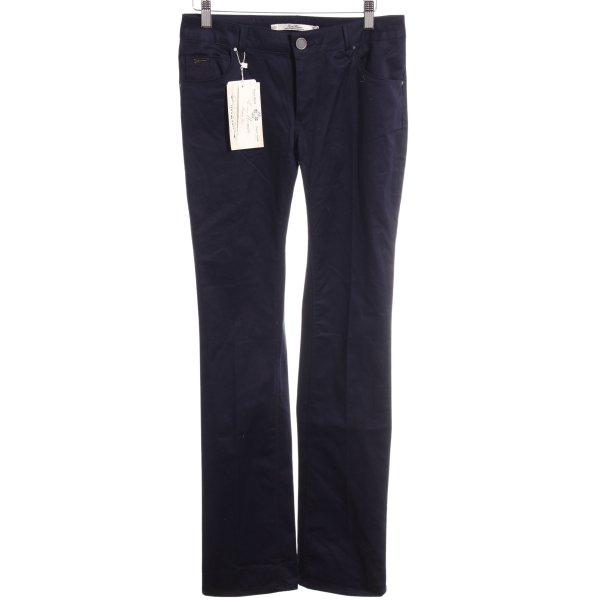Zara Woman Hüftjeans dunkelblau Jeans-Optik