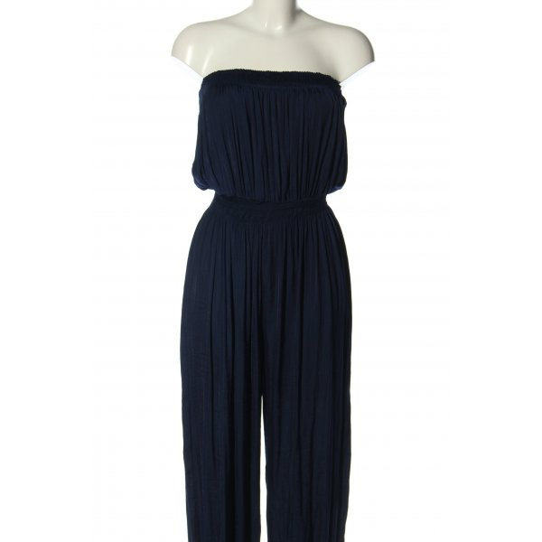 Zara Woman Jumpsuit blau Casual-Look