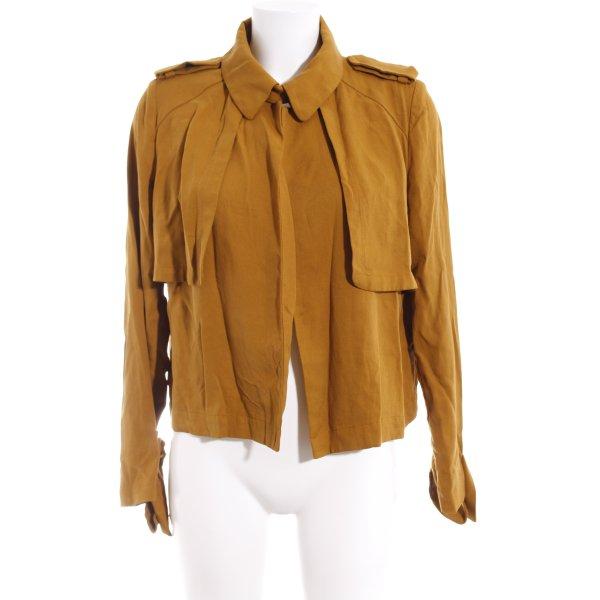 Zara Woman Kurz-Blazer sandbraun Casual-Look