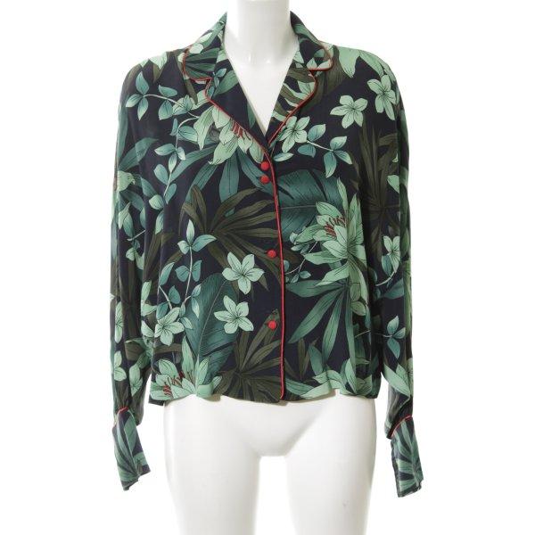 Zara Woman Langarm-Bluse mehrfarbig Casual-Look