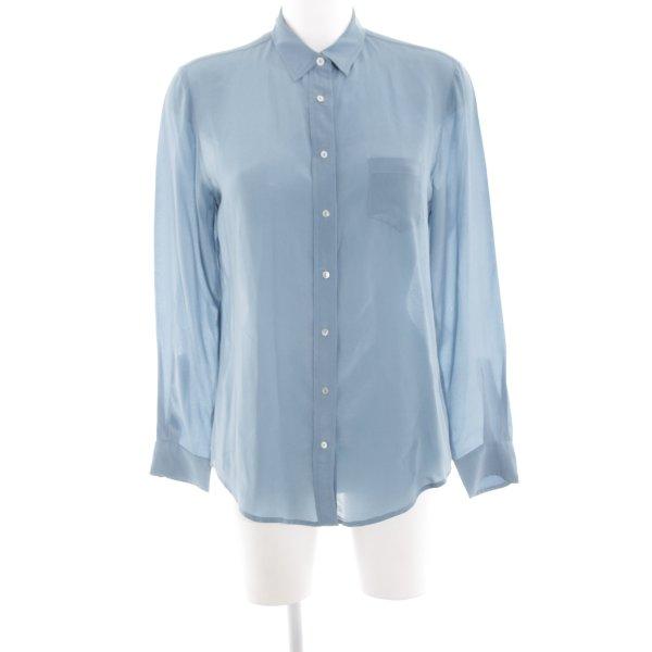 Zara Woman Langarm-Bluse blau Casual-Look