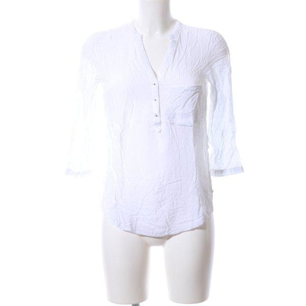 Zara Woman Langarm-Bluse weiß Business-Look