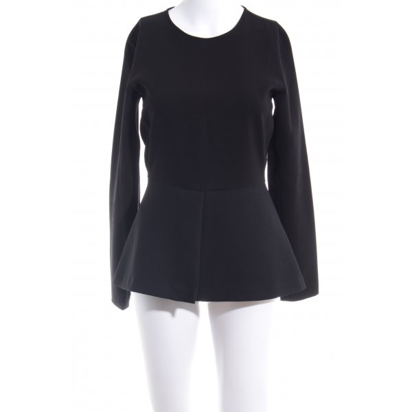Zara Woman Long Sleeve Blouse black business style