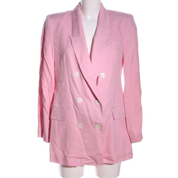 Zara Woman Long-Blazer pink Business-Look