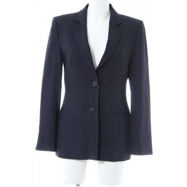 Zara Woman Long-Blazer dunkelblau Nadelstreifen Business-Look