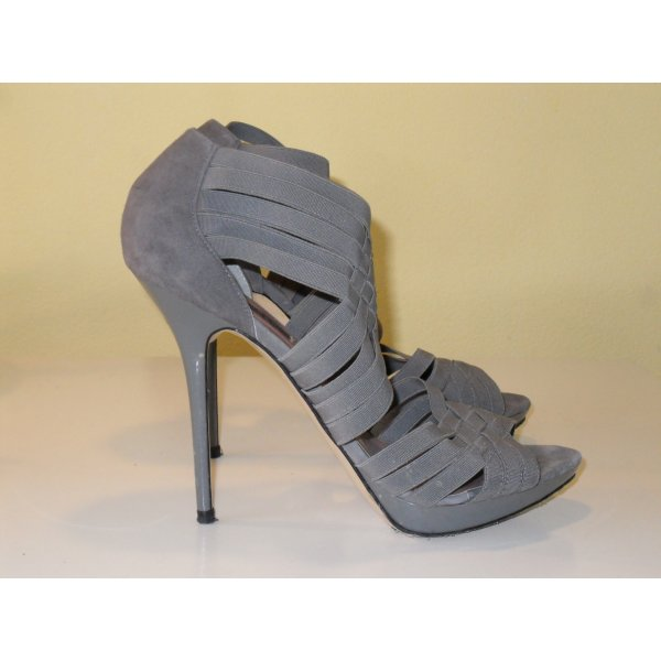Zara High-Heeled Sandals grey