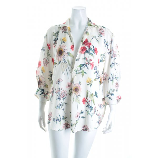 Zara Woman Schlupf-Bluse florales Muster Street-Fashion-Look