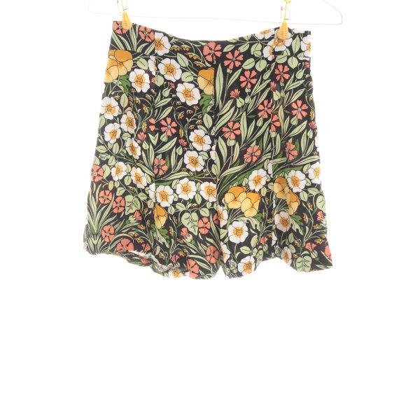 Zara Woman Shorts florales Muster Casual-Look