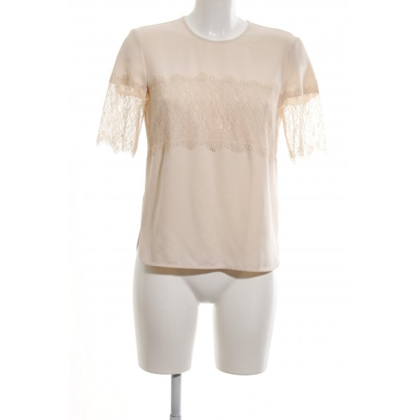 Zara Woman Spitzenbluse creme Casual-Look