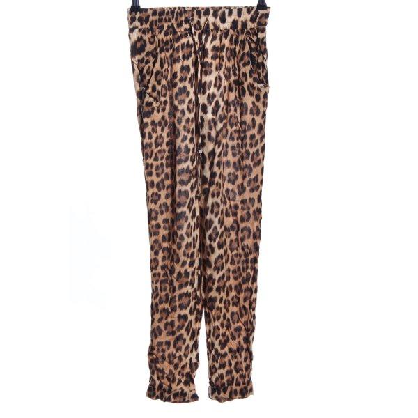 Zara Woman Stoffhose Leomuster Casual-Look
