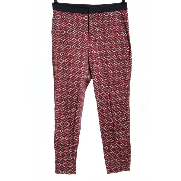 Zara Woman Stoffhose grafisches Muster Casual-Look