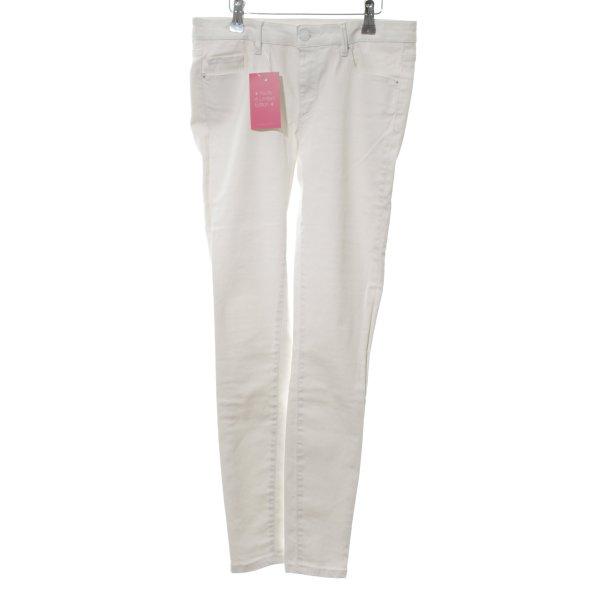 Zara Woman Stretchhose weiß Casual-Look