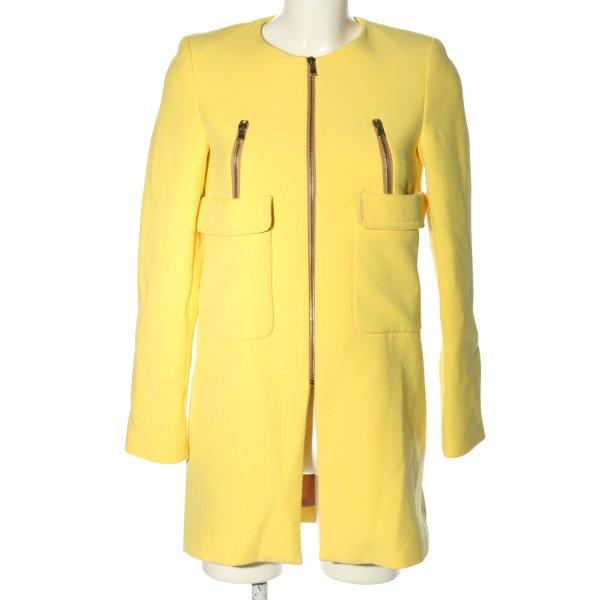Zara Woman Übergangsmantel blassgelb Casual-Look