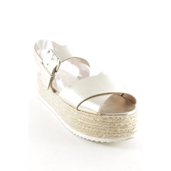 Zara Woman Wedges Sandaletten mehrfarbig Beach-Look