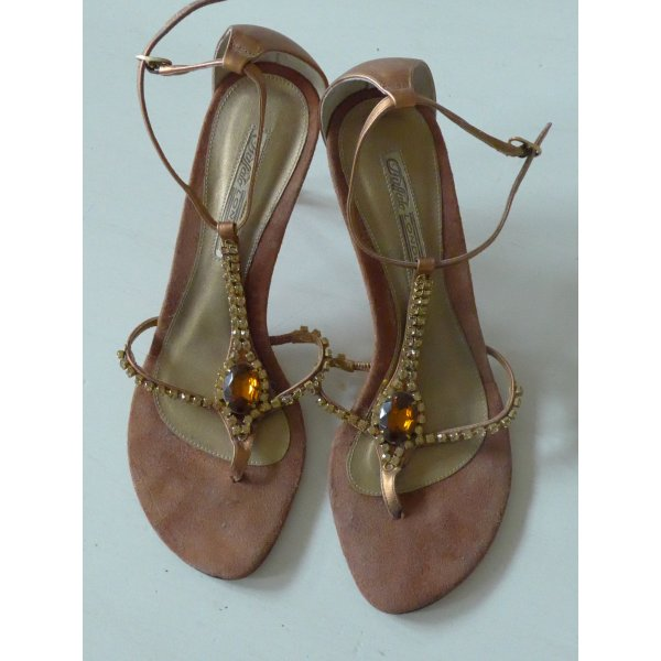 Buffalo High Heel Sandal brown leather
