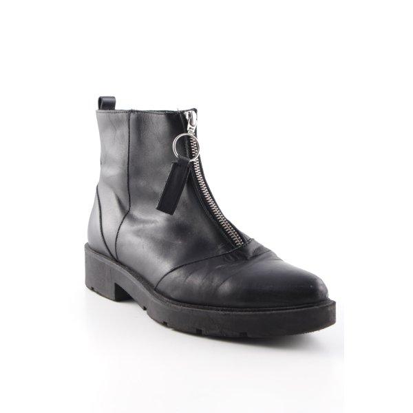 Zign Korte laarzen zwart rockabilly stijl