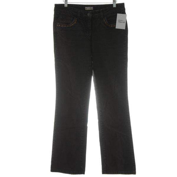 Zucchero Jeans bootcut noir-bronze style mode des rues