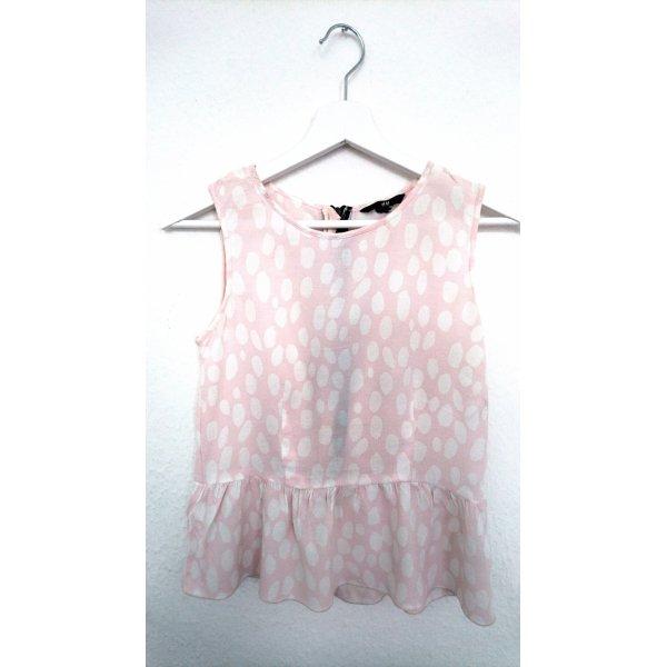 H&M Top stile impero rosa chiaro Sintetico